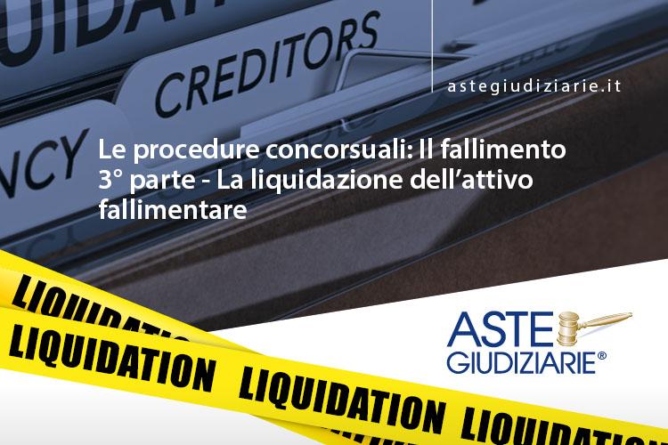liquidazione attivo fallimentare
