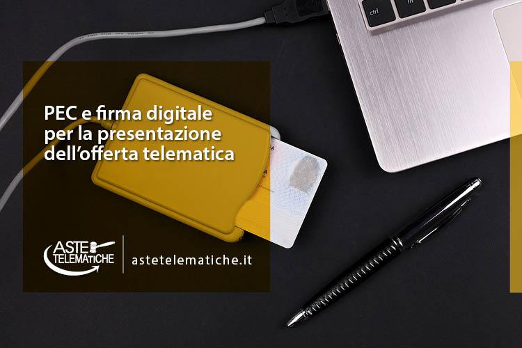 firma digitale pec offerta telematica